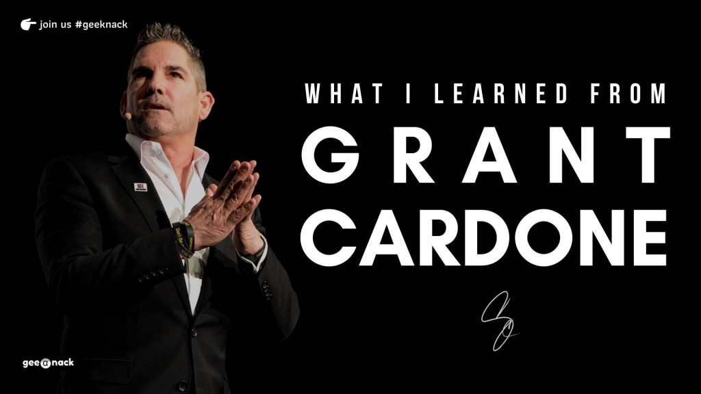 What I Learned From Grant Cardone front cover