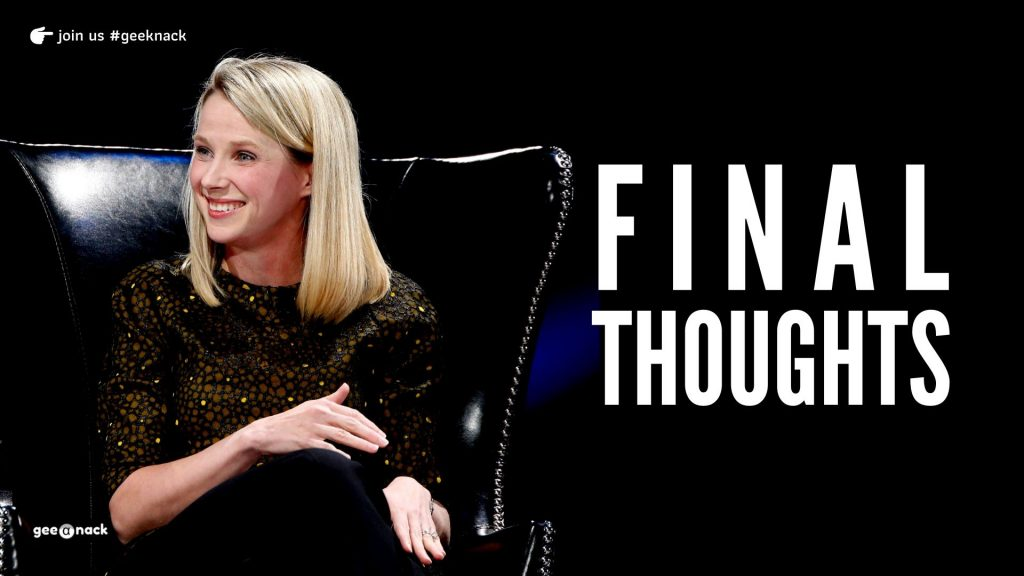 What I Learned From Marissa Mayer Final Thoughts