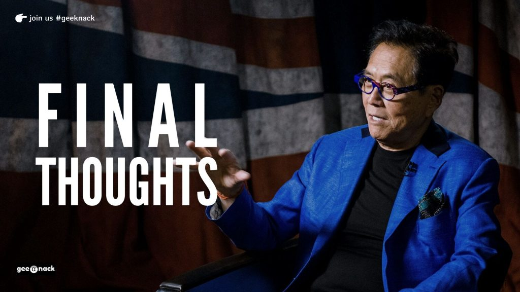 What I Learned From Robert Kiyosaki Final Thoughts