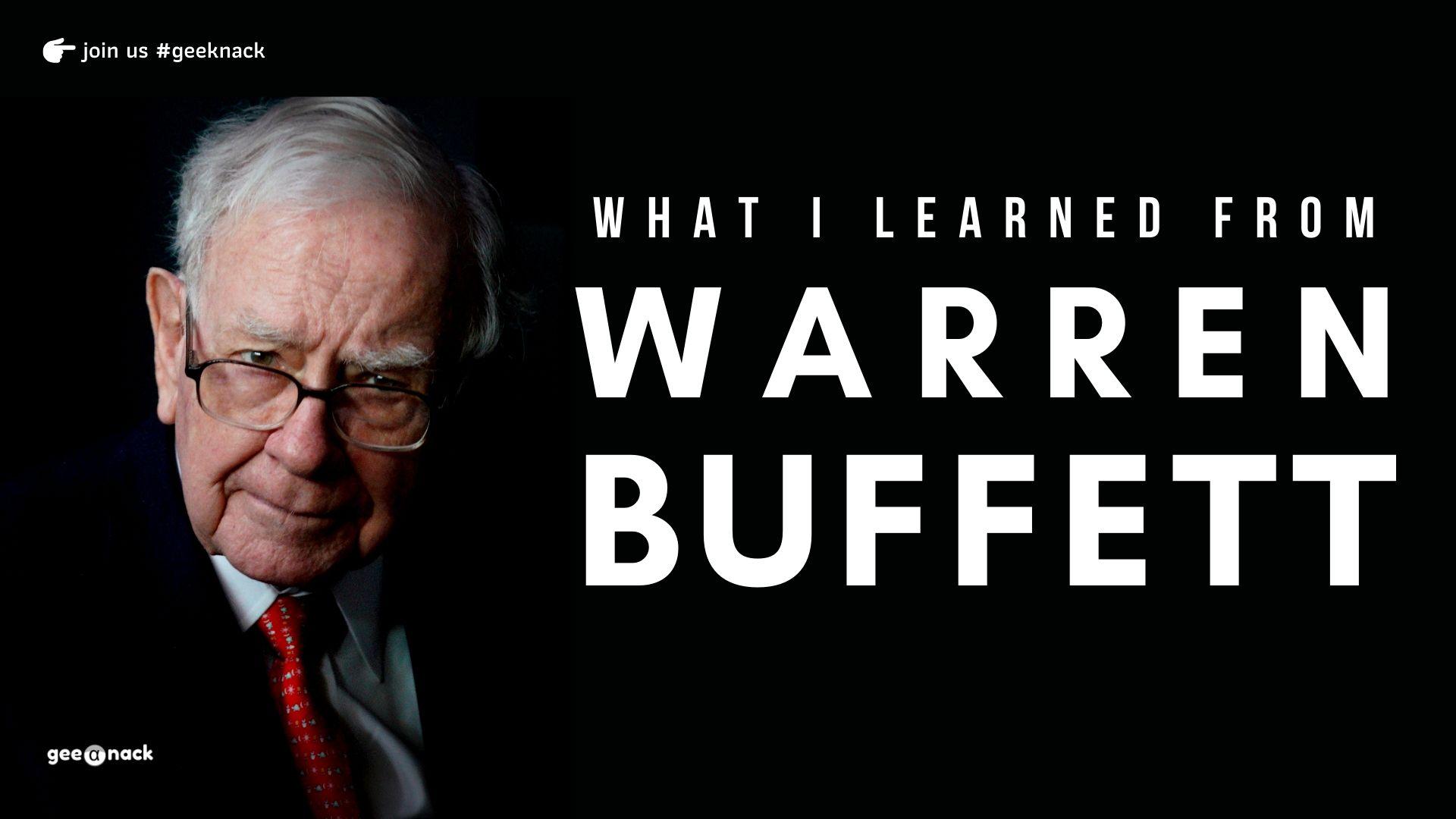 What I Learned From Warren Buffett cover