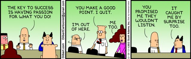 dilbert comics passion driven