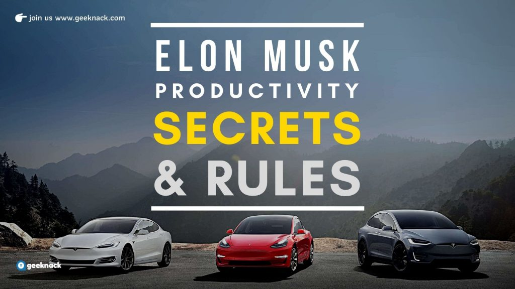 Elon Musk Productivity Secrets And Rules cover