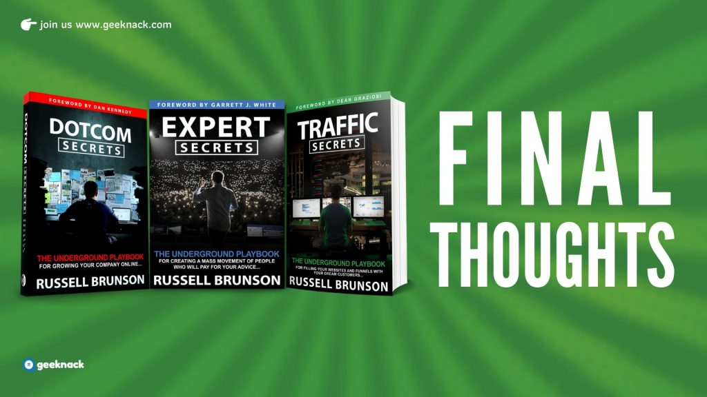 Russell Brunson - Traffic Secrets Final Thoughts