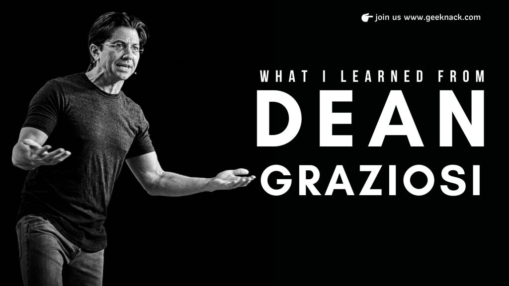 What I Learned From Dean Graziosi cover