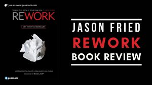 Jason Fried Rework Book Review cover