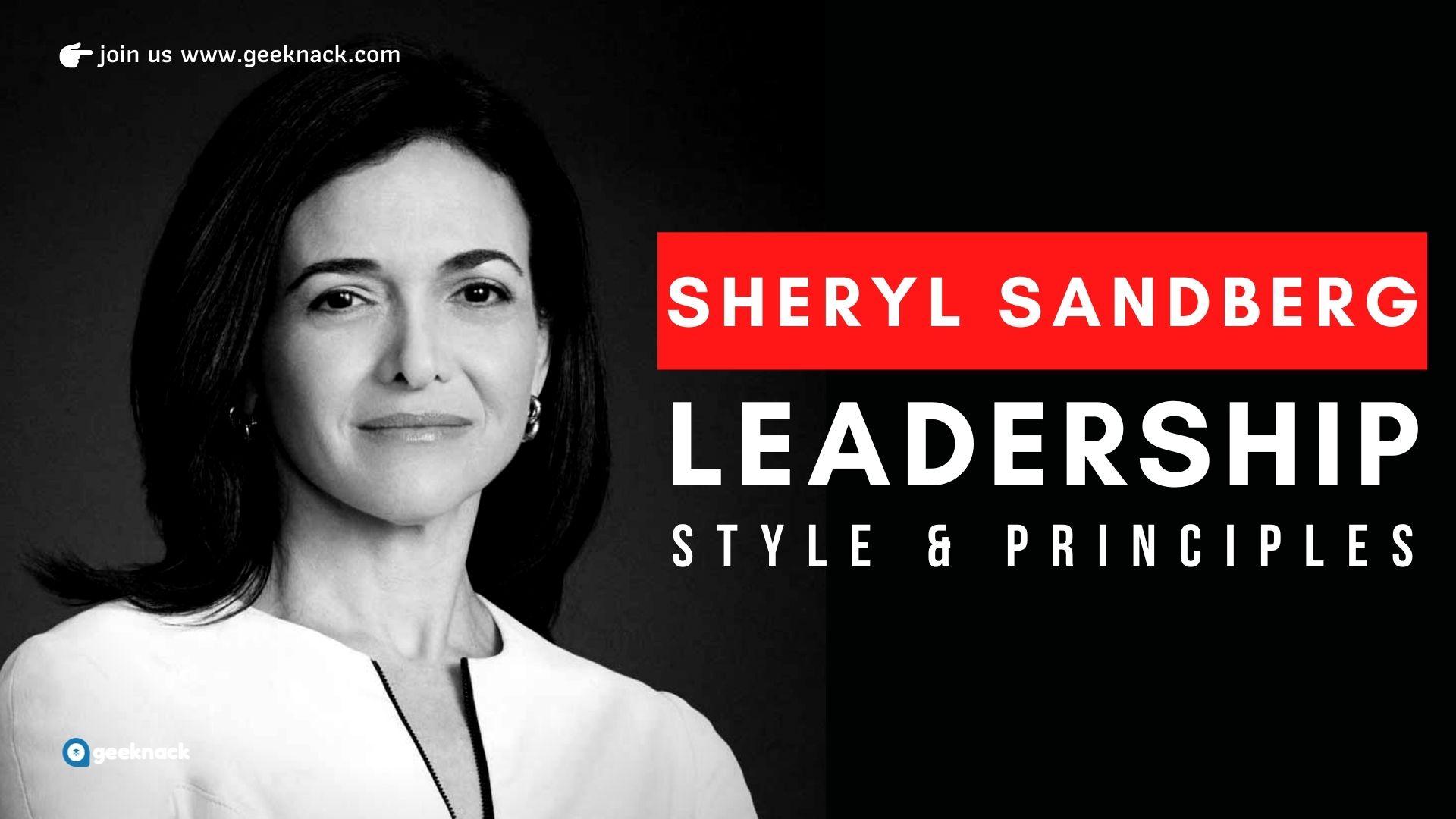 Sheryl Sandberg Leadership Style & Principles cover