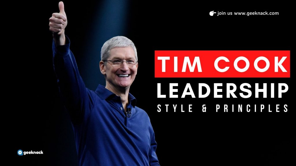 Tim Cook Leadership Style Principles cover