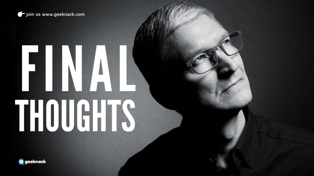 Tim Cook Leadership Style Principles Final Thoughts