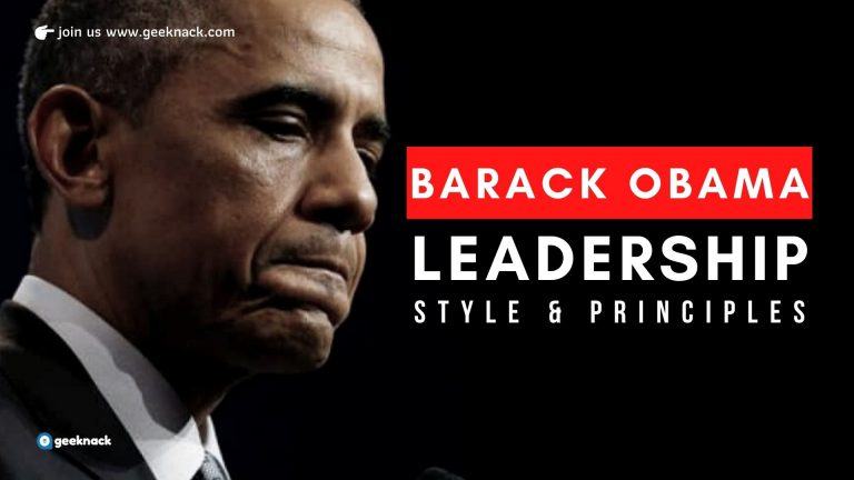 Barack Obama Leadership Style and Principles cover