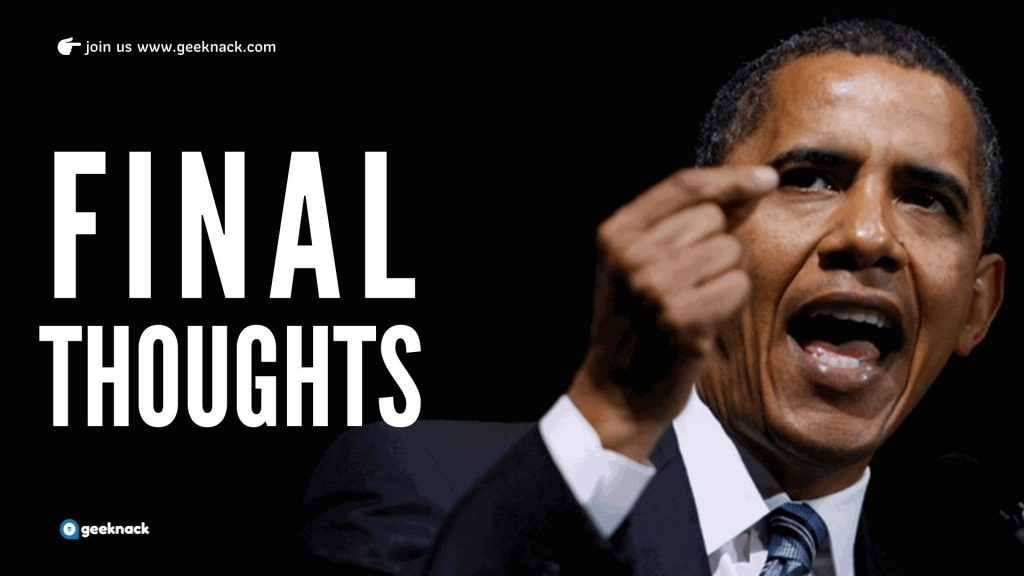Barack Obama Leadership Style and Principles Final Thoughts