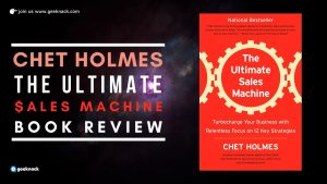 Chet Holmes - The Ultimate Sales Machine Book Review cover