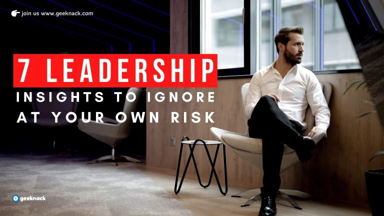 Seven Leadership Insights To Ignore At Your Own Risk cover